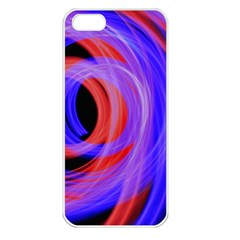 Background Blue Red Apple Iphone 5 Seamless Case (white)