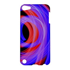 Background Blue Red Apple Ipod Touch 5 Hardshell Case