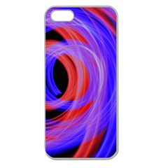 Background Blue Red Apple Seamless Iphone 5 Case (clear)