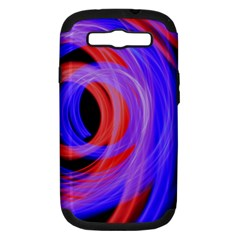 Background Blue Red Samsung Galaxy S Iii Hardshell Case (pc+silicone)