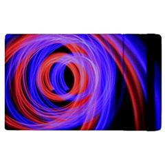 Background Blue Red Apple Ipad 3/4 Flip Case