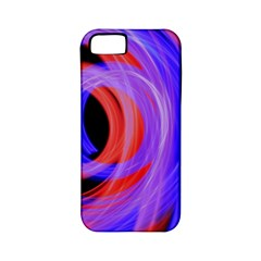 Background Blue Red Apple Iphone 5 Classic Hardshell Case (pc+silicone)