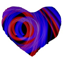 Background Blue Red Large 19  Premium Heart Shape Cushions