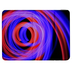 Background Blue Red Samsung Galaxy Tab 7  P1000 Flip Case