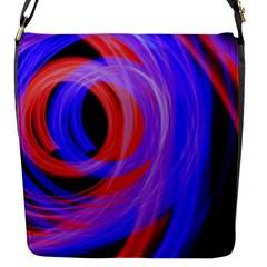Background Blue Red Flap Messenger Bag (s)