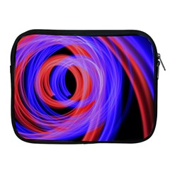 Background Blue Red Apple Ipad 2/3/4 Zipper Cases