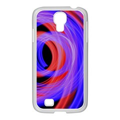 Background Blue Red Samsung Galaxy S4 I9500/ I9505 Case (white)