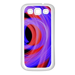 Background Blue Red Samsung Galaxy S3 Back Case (white)