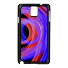 Background Blue Red Samsung Galaxy Note 3 N9005 Case (black)