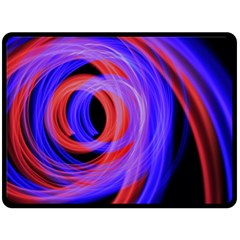 Background Blue Red Double Sided Fleece Blanket (large)