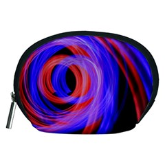 Background Blue Red Accessory Pouches (medium)