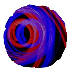 Background Blue Red Large 18  Premium Flano Round Cushions