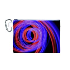 Background Blue Red Canvas Cosmetic Bag (m)