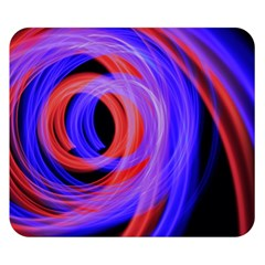 Background Blue Red Double Sided Flano Blanket (small)