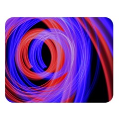 Background Blue Red Double Sided Flano Blanket (large)