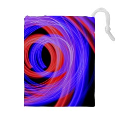 Background Blue Red Drawstring Pouches (extra Large)