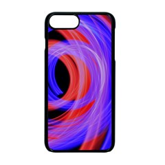 Background Blue Red Apple Iphone 7 Plus Seamless Case (black)