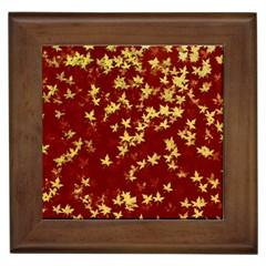 Background Design Leaves Pattern Framed Tiles