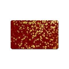 Background Design Leaves Pattern Magnet (name Card)