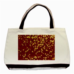 Background Design Leaves Pattern Basic Tote Bag (two Sides)