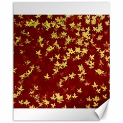 Background Design Leaves Pattern Canvas 11  X 14