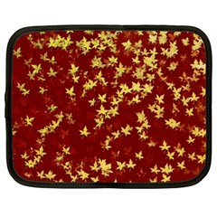 Background Design Leaves Pattern Netbook Case (large)