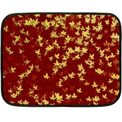 Background Design Leaves Pattern Fleece Blanket (mini)