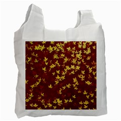 Background Design Leaves Pattern Recycle Bag (One Side)