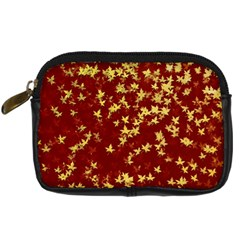 Background Design Leaves Pattern Digital Camera Cases