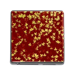 Background Design Leaves Pattern Memory Card Reader (square)
