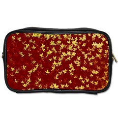Background Design Leaves Pattern Toiletries Bags