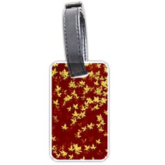 Background Design Leaves Pattern Luggage Tags (One Side)