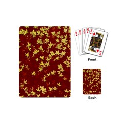 Background Design Leaves Pattern Playing Cards (mini)