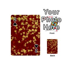 Background Design Leaves Pattern Playing Cards 54 (mini)