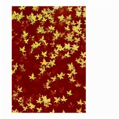 Background Design Leaves Pattern Small Garden Flag (two Sides)