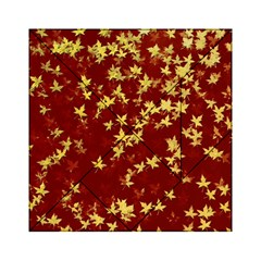 Background Design Leaves Pattern Acrylic Tangram Puzzle (6  x 6 )