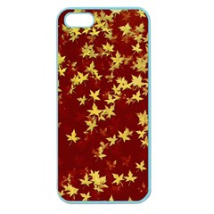 Background Design Leaves Pattern Apple Seamless Iphone 5 Case (color)