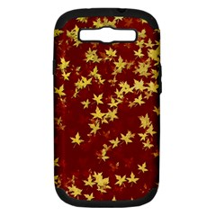Background Design Leaves Pattern Samsung Galaxy S Iii Hardshell Case (pc+silicone)