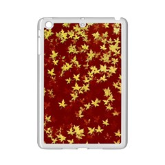 Background Design Leaves Pattern Ipad Mini 2 Enamel Coated Cases