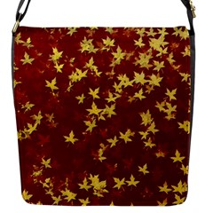 Background Design Leaves Pattern Flap Messenger Bag (s)