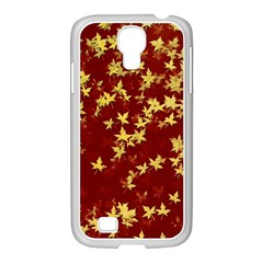 Background Design Leaves Pattern Samsung Galaxy S4 I9500/ I9505 Case (white)