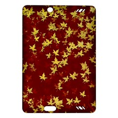 Background Design Leaves Pattern Amazon Kindle Fire Hd (2013) Hardshell Case