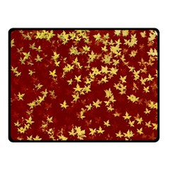Background Design Leaves Pattern Double Sided Fleece Blanket (small)
