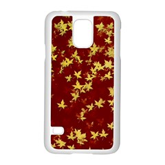 Background Design Leaves Pattern Samsung Galaxy S5 Case (white)