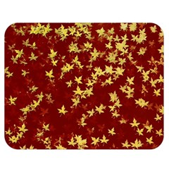 Background Design Leaves Pattern Double Sided Flano Blanket (medium)