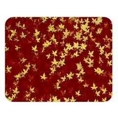 Background Design Leaves Pattern Double Sided Flano Blanket (large)
