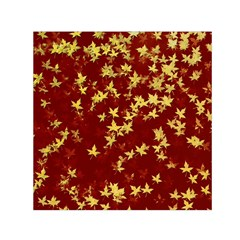Background Design Leaves Pattern Small Satin Scarf (square)