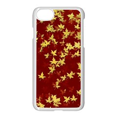 Background Design Leaves Pattern Apple Iphone 7 Seamless Case (white)