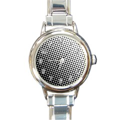 Background Wallpaper Texture Lines Dot Dots Black White Round Italian Charm Watch