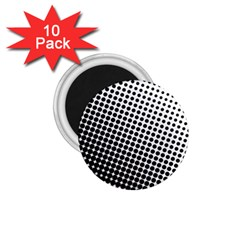 Background Wallpaper Texture Lines Dot Dots Black White 1 75  Magnets (10 Pack)